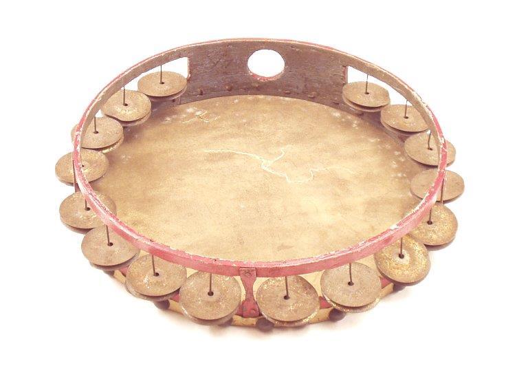 10-inch tambourine. |