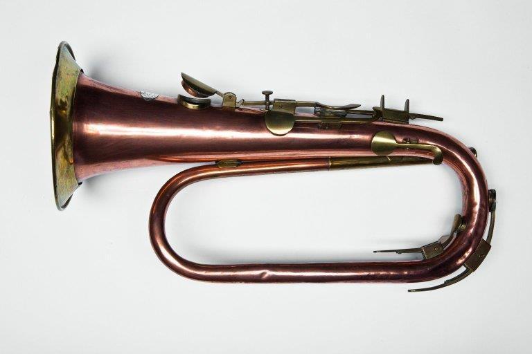 Keyed bugle. Nominal pitch: 4-ft C. |