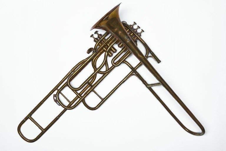 Cavalry valve trombone. Nominal pitch: B♭. | Pierre Sénécaut