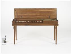Bundfreies Klavichord (Kopie nach W.A. Mozarts letztem Klavichord)   Rück