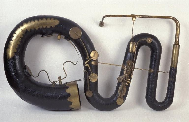 Contrabass serpent. Nominal pitch: 16-ft C. | Joseph and Richard Wood