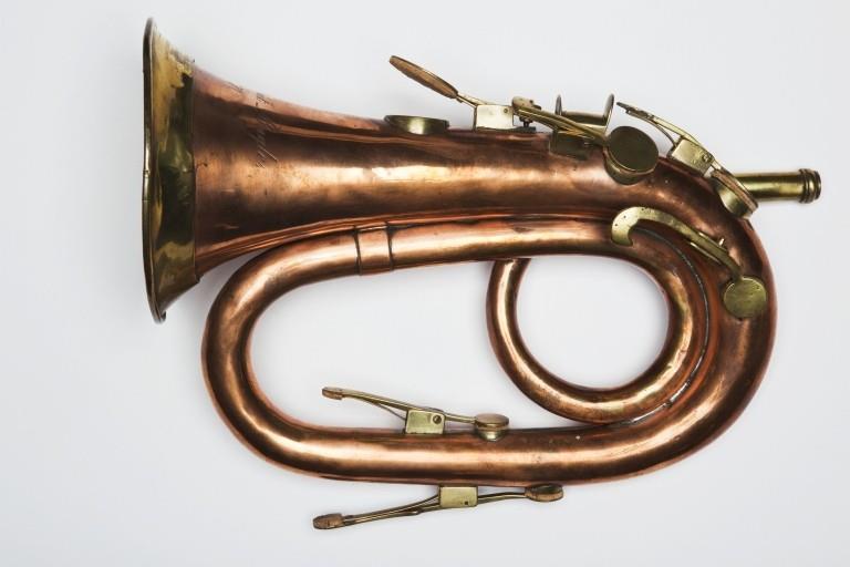 Keyed bugle. Nominal pitch: 4-ft C. | William Sandbach