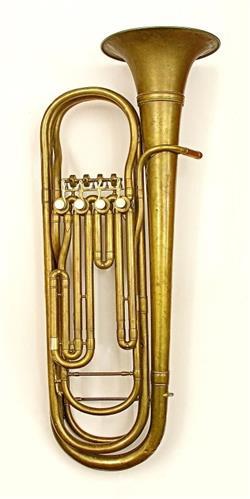 Contrabass valve trombone. Nominal pitch: 18-ft B?.   Rampone & Cazzani