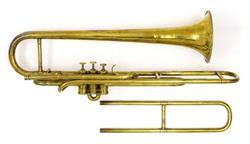 Tenor valve trombone. Nominal pitch: C/B?. |  Prestreau